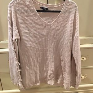 American Eagle Side Lace Up Sweater Mint